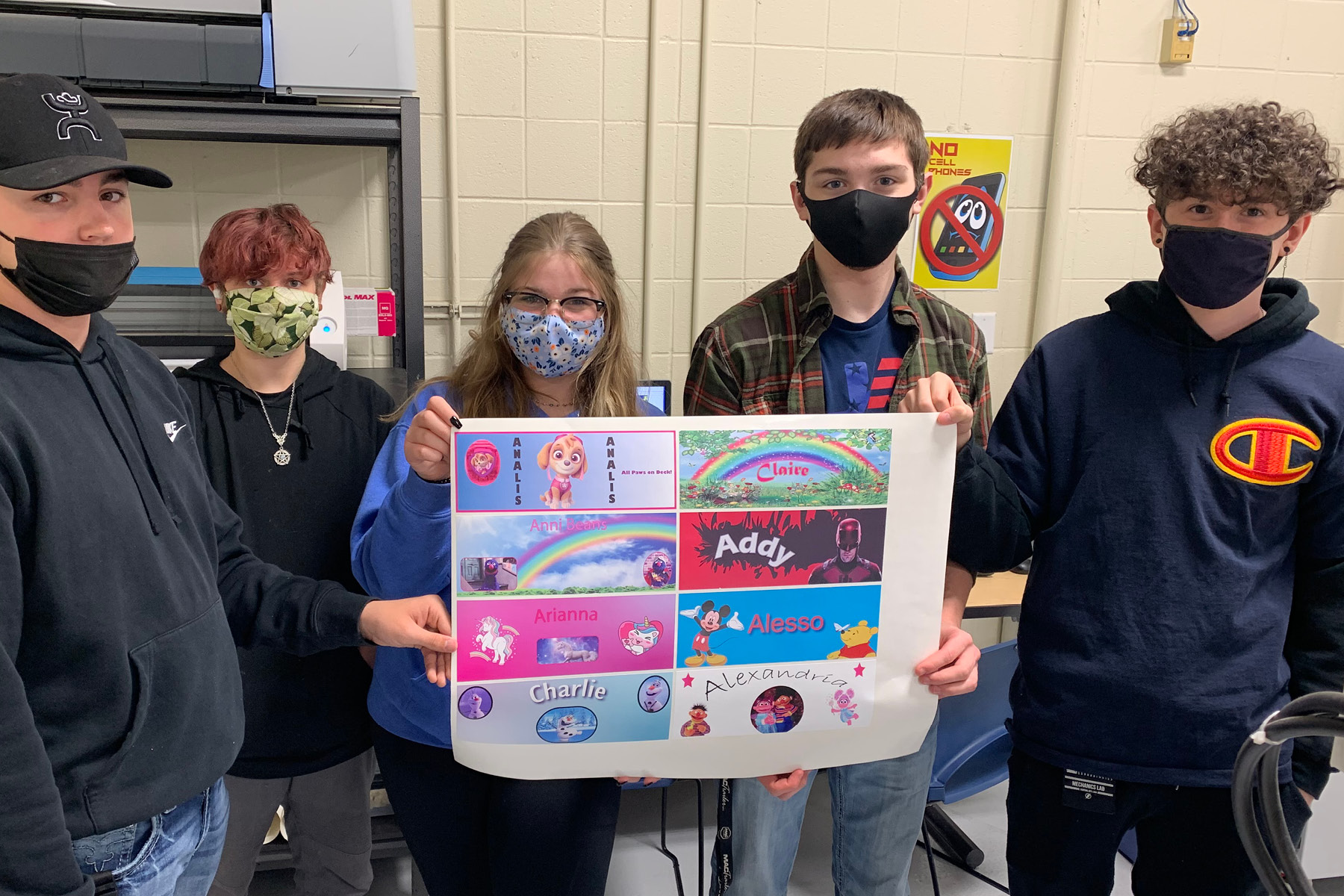 students show finalized license plates