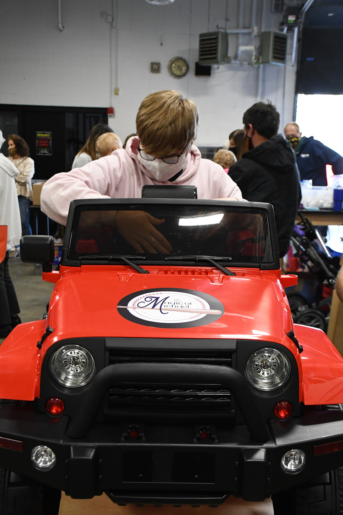 student adds seat to ride-on car