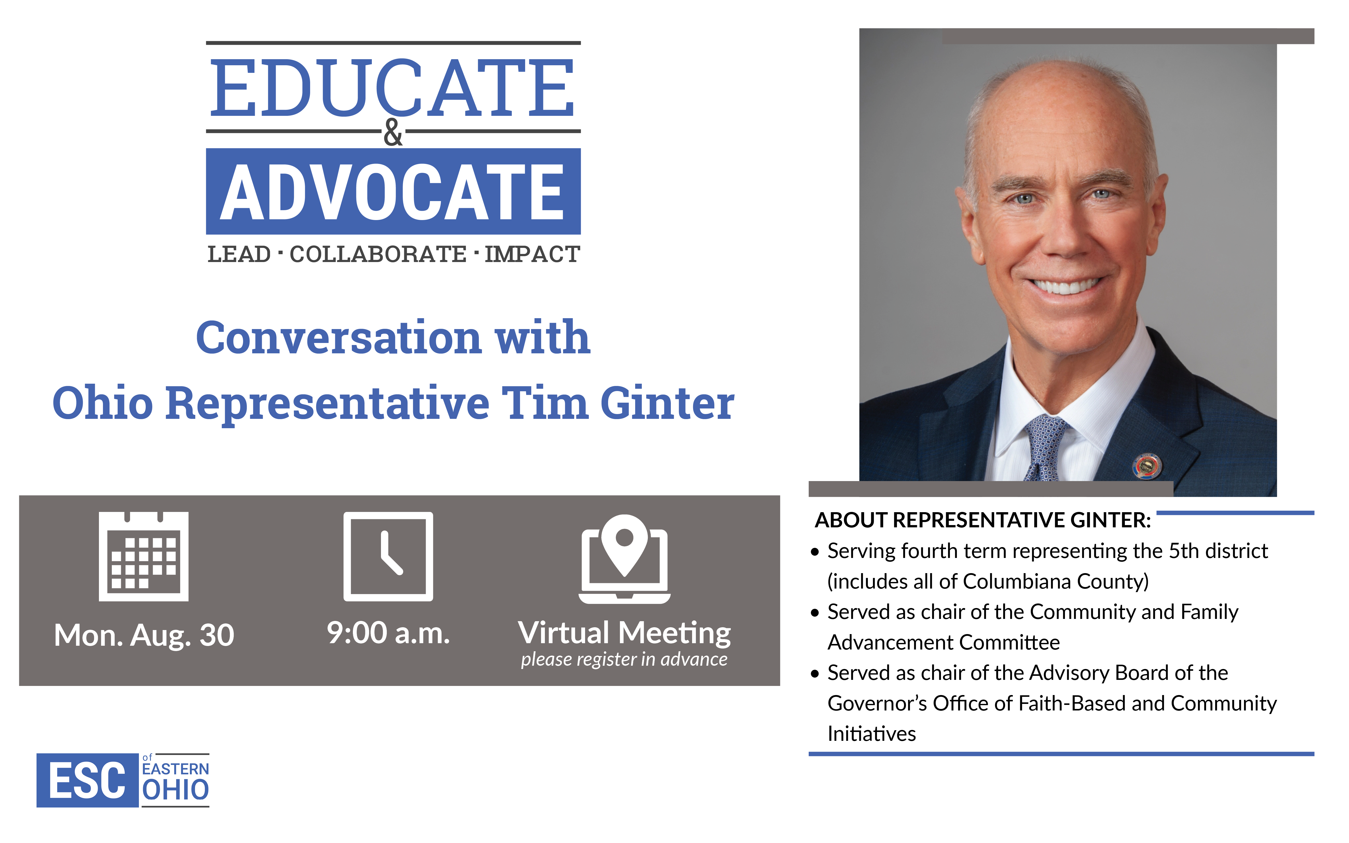 Educate and Advocate with Tim Ginter