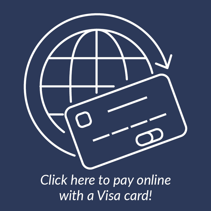 Click here to pay online with a Visa card