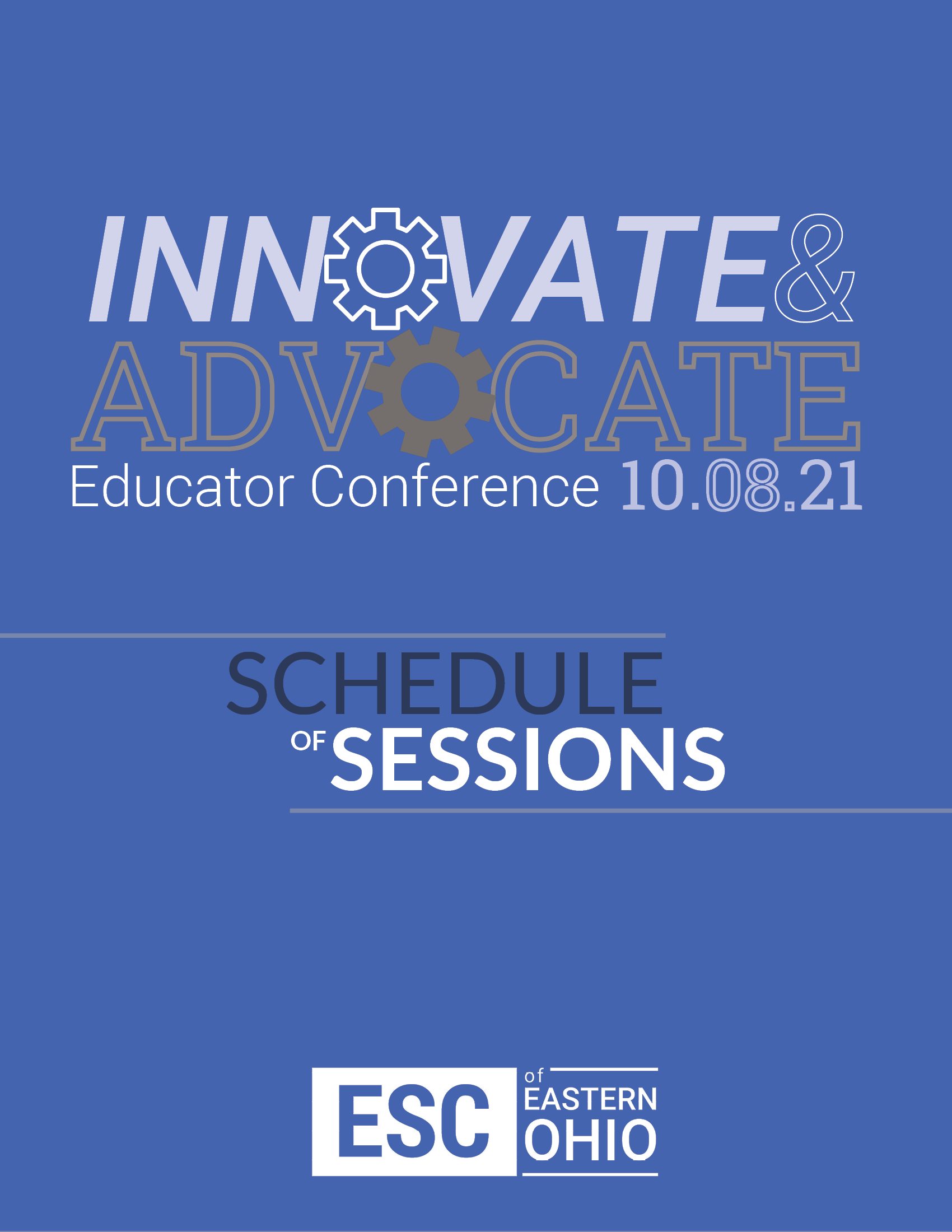 Innovate and Advocate Conference Schedule cover